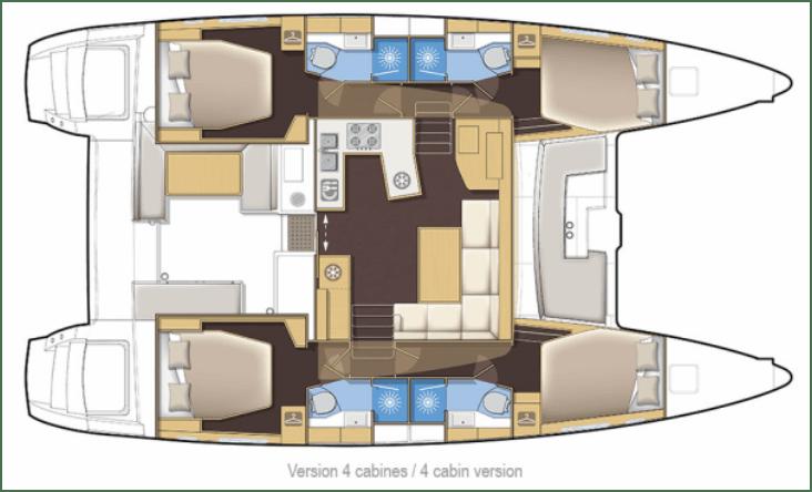 layout lagoon 450 Opera Prima